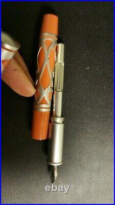 Handmade rare orange fountain pen