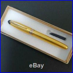 Japanese Handmade Gold Fountain Pen Nib/M Pre-owned withBox refill