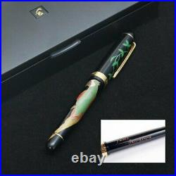 Japanese Makie & Gold Foil Lacquer Fountain Pen Nib/M Handmade Art craft NWB