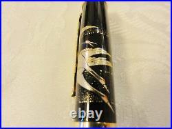 Japanese Urushi Lacquer Golden Makie fountain Pen Crane and Tortoise