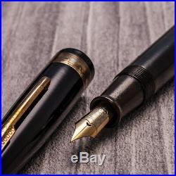 LIMITED Japanese HANDMADE Ebonite Urushi Retractable Capless Safety Fountain Pen