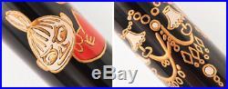 MOOMIN Little My Model Japanese Lacquer & Gold Fountain Pen 14K Nib/M Handmade