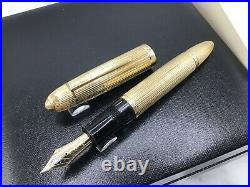 Montblanc 149 Solid 18k Gold 750 Pinstripe c1970s Handmade Fountain France