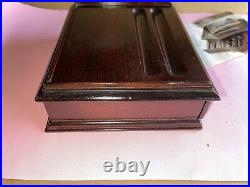 Monticello Mahogany fountain Pen BOX One Drawer 10 Pens Vintage $99 In 1980s
