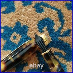 Nakaya Fountain Pen Celluloid Tortoiseshell Handmade Japan Nib Gold 14K