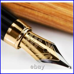 New ZenZoi Fountain Pen With Ink Set Case Handmade Bamboo Vintage JP No. 595