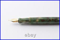 New and unused handmade fountain pen with Matcha fine print cartridgeF