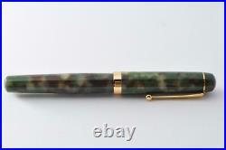 New and unusedhandmade fountain pen with Matcha fine print cartridgeF