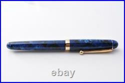 New authentic handmade handmade fountain pen Onishi Seisakusho Blue Nib F Steel