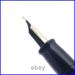 OHASIDO Handmade Fountain Pen Standard Size Lacquer Urushi Blue 18K Gold Ring