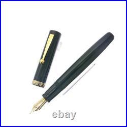 OHASIDO Lacquered Ebonite Black Hand Made Nib 14k M Fountain Pen With Box