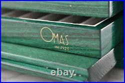 OMAS Fountain Pen Collectors Display Cabinet for 36 pens in Bright Green Mob 367