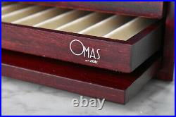 OMAS Fountain Pen Collectors Display Cabinet for 36 pens in Matte Red Mob 367