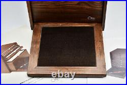 OMAS Fountain Pen Collectors Display Cabinet for 48 pens with Walnut finish
