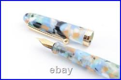 Ohashido Fountain Pen Summer Blue Handmade Made in japan Nib Steel Fine