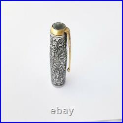 Parker 51 Oversize Fountain pen Fine Gold Nib Special Hand Made Cap Very Rare