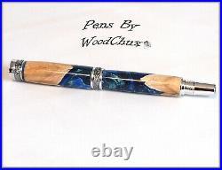 Pen HandMade Writing Ball Point Fountain Maple Burl Wood Pens SEE VIDEO 1267a