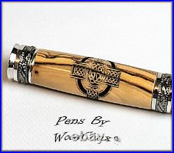 Pen HandMade Writing Ball Point Fountain Olive Wood Pens SEE VIDEO 1279a