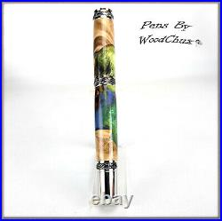 Pen Handmade Stunning Maple Burl Wood Rollerball Or Fountain Pens VIDEO 1234