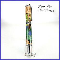 Pen Handmade Stunning Maple Burl Wood Rollerball Or Fountain Pens VIDEO 1234a