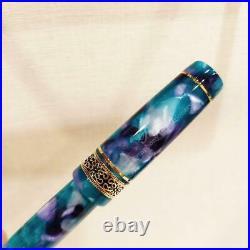 Pen House Original Brand Pent Fountain Pen Handmade Nib Fine Green Used 691/MN