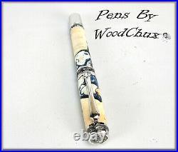 Pen Pens Handmade Rare Maple Burl Wood Rollerball Or Fountain SEE VIDEO 1133a