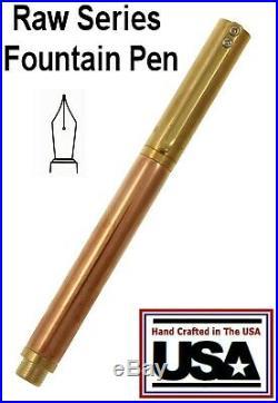 Placid Crafts Handmade Raw Series Brass & Copper Fountain Pen / #354