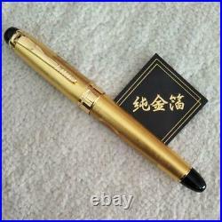 Pure gold leaf handmade fountain pen dragon