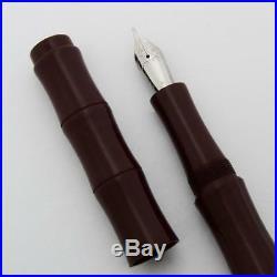 Ranga Ebonite Bamboo Fountain Pen Maroon Ebonite, Hand Made, JoWo Nibs (New)