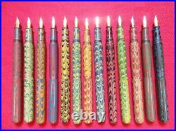 Ranga Ebonite Fountain Pen-giant Ripple Model 5-german Jowo Nib&conv-13 Colours