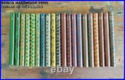 Ranga Ebonite Fountain Pen-spl Ripple Model 4-german Jowo Nib & Converter