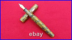 Ranga Ebonite Fountain Pen-spl Ripple Model 4-german Schmidt Nib & Converter