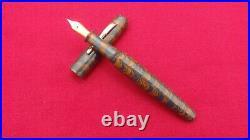 Ranga Ebonite Fountain Pen-spl Ripple Model4c-german Schmidt Screw Nib&converter