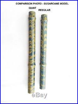 Ranga Giant Sugarcane Handmade Ebonite Fountain Pen -german Nib &converter
