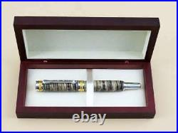 Rare Mammoth Fountain Pen stable Tooth + Gold Plated 24k Handmade