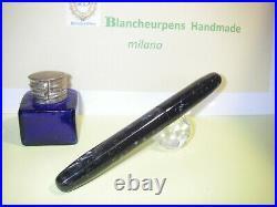 Stilografica BlancheurPens ogivale handmade Black Ice fountain pen