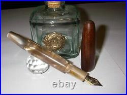 Stilografica Hot Tan Cigar Blancheurpens Beige Pearl Fountain Pen Handmade Nib