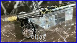 Stunning Black TruStone Fountain Pen Hand Made by HTC Creations