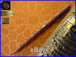 TERRIFIC SOLID GOLD pattern WATERMAN C/F CF By FRED jeweler hand made ball pen