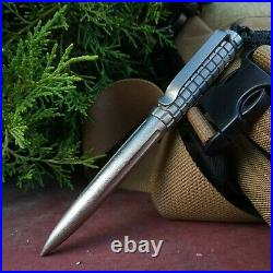 Titanium tactical pen. EDC gear, kubotan handmade from Russia. Fountain pen