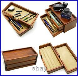 Toyooka Craft Fountain Pen Box for 8 Pens Kingdom Notes Original Wooden Japan