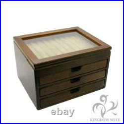 Toyooka Craft Handmade Fountain Pen Box for 40 pens Kingdom Note Authentic