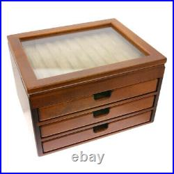 Toyooka Craft Pen Storage Box 40 fountain pens Wood Made in Japan