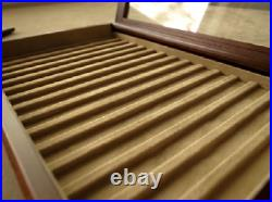 Toyooka Craft Wooden Fountain Pen tray (with fixed lid) 15 Pens Display Japan