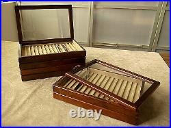 Toyooka Craft Wooden Pen tray (With cover) sc111 Tray of 15 fountain pens