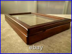 Toyooka Craft Wooden Pen tray (With fixed lid) sc112 Tray of 15 fountain pens