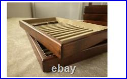 Toyooka Craft Wooden Pen tray Without lid sc109 Tray of 15 fountain pens YI07