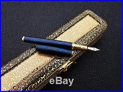 Unique Handmade Damascus Steel Fountain Pen With Blue plasma Coating A. K-27