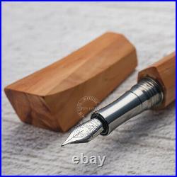 Wancher Hand Made Wooden Oak Fountain Pen Nib/F 155mm Square