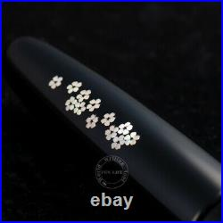 Wancher Handmade Shell Inlay Fountain Pen Cigar Type King size SS NWB